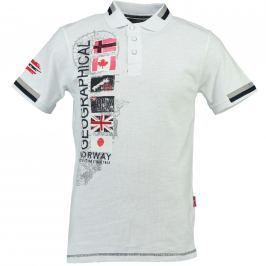 Geographical Norway Pánske polo tričko KARABATI SS MEN 100_White